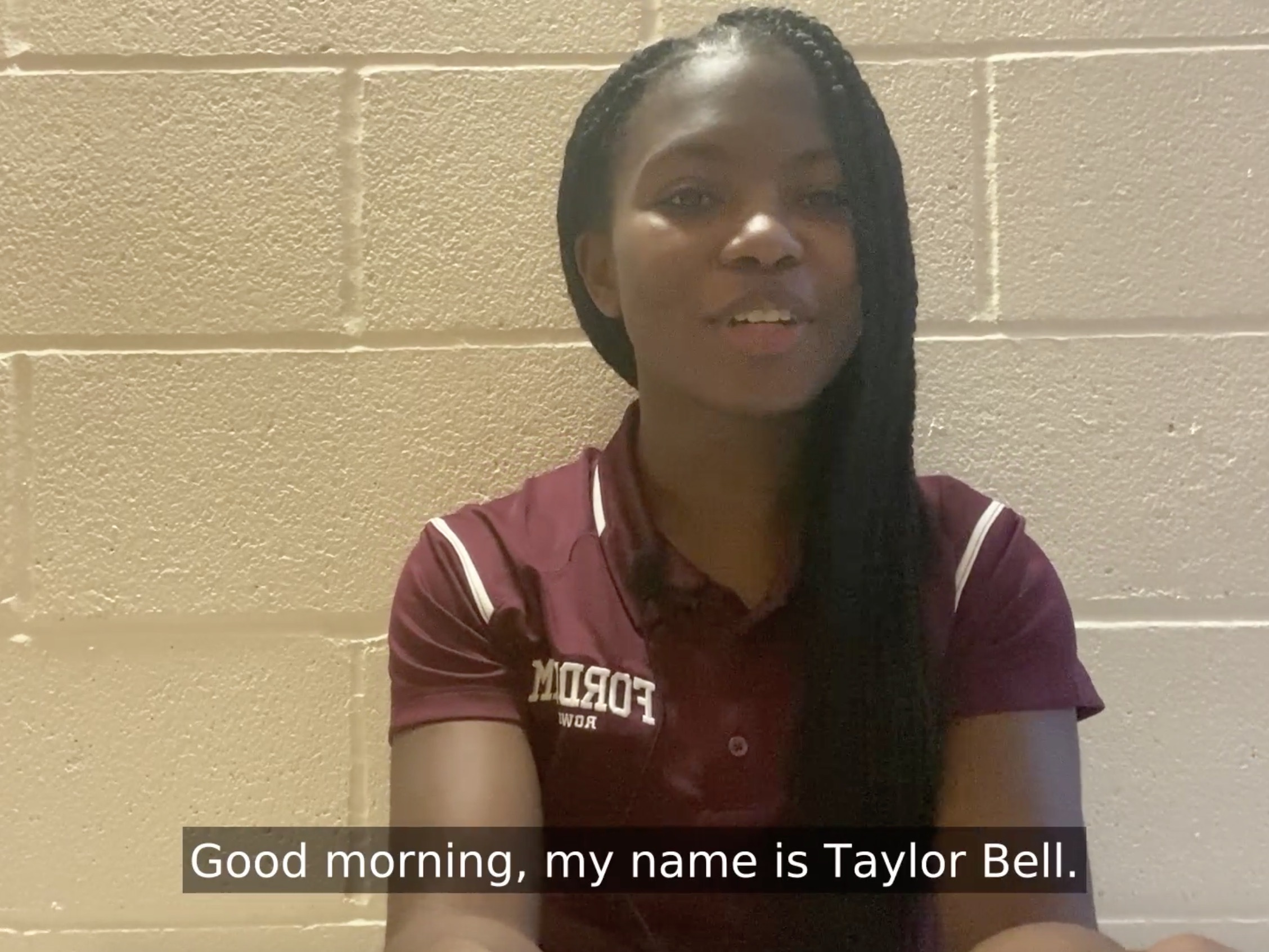 Taylor Bell, FCRH '23, Student Scholarship Speaker