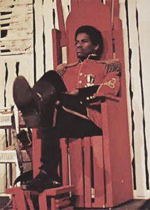 "Denzel Washington in a Fordham production of ""The Emperor Jones."""