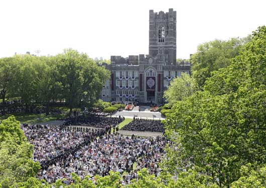 fordham university rose hill. more than 10,000 family members and friends gathered to celebrate the graduation of class fordham university rose hill