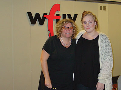 WFUV's Rita Houston with Adele