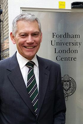 Gabelli School's London director, Graham Bolton. Photo by Janet Sassi.
