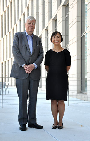 "Henry ""Harry"" Cobb and Yvonne Szeto. Photo by Tom Stoelker."