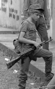 combatientes del erp en el norte de morazan en Perquin jul 90
