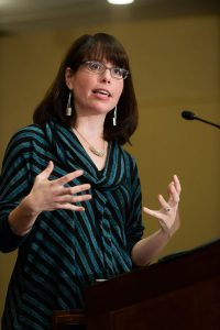 "Molly Worthen discusses what ""secularism"" means in the 21st century. (Photo by Leo Sorel)"
