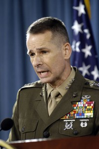 """""""We shouldn't be surprised that ISIS comes in,"""" said retired Marine Corps Gen. Peter Pace about Afghanistan at a lecture at Fordham Law School on Nov.19."""