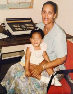 Ruth Gibson and her granddaughter Jazmin Sheppard at the Fordham switchboard in 1992.