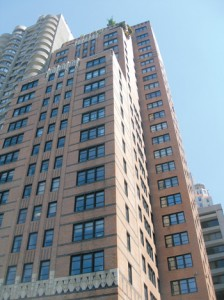 Fordham's new space will be in this building at 45 Columbus Avenue, directly across from the Lincoln Center campus.