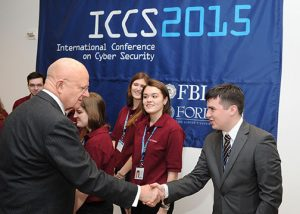 Director of National Intelligence James Clapper meets Fordham students. (Photo by Chris Taggart)