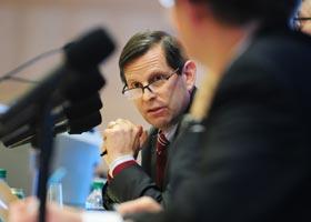 Moderator Joel Reidenberg (Photo: Chris Taggart)