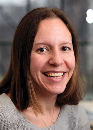Rachel Annunziato, Ph.D., studies how adolescent transplant patients adapt to adult health care. Photo by Bruce Gilbert