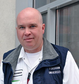 John McDonagh, foreman at Facilities Operations for the Lincoln Center campus, recently won Fordham's Sursum Corda award. Photo by Janet Sassi