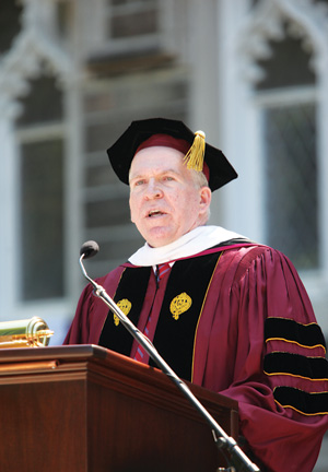 John Brennan, FCRH '77, delivered the Commencement address. Photo by Chris Taggart