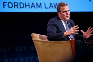 Jeb Bush at the 92nd Street Y. Photo by Bruce Gilbert