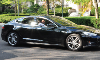 Tesla, an electric-powered car, made its Rose Hill premiere on Oct. 1. Photo by Patrick Verel
