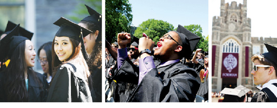 On Saturday, May 19, Fordham awarded 3,432 degrees to graduate and undergraduate students of the Class of 2012.