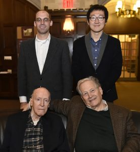 Abraham Smith  and Han-Bom Moon, two of  four Peter M. Curran Visiting Assistant Professors.