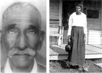 Sandra Arnold's great-grandfather, B. Harmon, and his wife, Ethel, are buried in undocumented burial grounds in Tennessee. Photos courtesy of Sandra Arnold