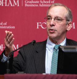 NY Fed chief William Dudley spoke to industry experts at the Fordham Wall Street Council. Photo by Bruce Gilbert