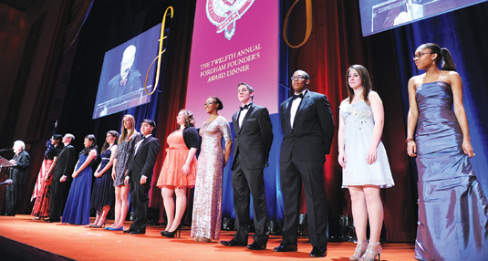 Twelve Presidential Scholars were honored at the Founder's Day Awards Dinner on March 18. Courtney Markes, far right, spoke on behalf of the scholars.