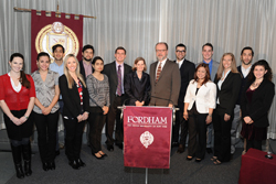 A cohort of students attended three seminars with Locke on rebuilding Haiti before the Gannon Lecture.