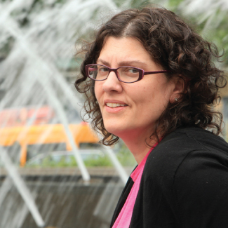Lauri Goldkind studies social workers' advancement in human services organizations. Photo by Tom Stoelker
