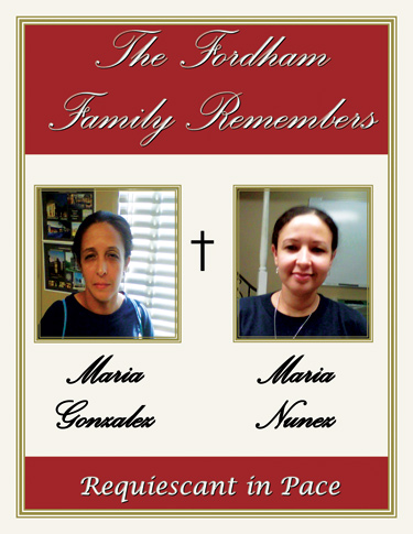 Maria Gonzalez and Maria Nunez, in a poster created for the University Mass. Poster courtesy of Campus Operations