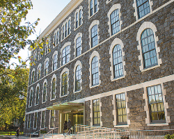The renovation of Hughes Hall, site of the Gabelli School of Business, was funded in part by Mario Gabelli's $25 million gift.