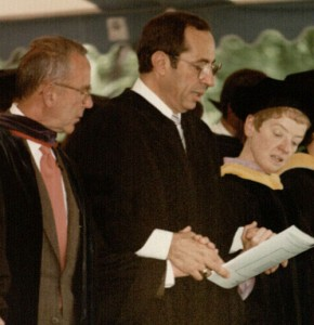 The governor delivered the Marymount commencement address in 1986.