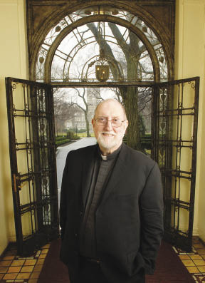 Patrick Ryan, S.J., has held the Laurence J. McGinley Chair in Religion and Society since 2008. Photo by Chris Taggart