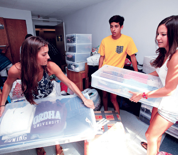 New roommates Courtney Acito, left, and Jackie Ramos, right, met through their rowing coach.  Photo by Bruce Gilbert