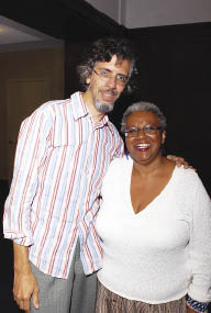 Edwin Torres and Patricia Spears Jones shared their memories of the 9/11 attacks at Poets Out Loud. Photo by Ken Levinson