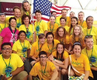 Members of the Fordham delegation prepared throughout the academic year for their trip to Brazil, where they met and traveled with students from several other nations.  Photos by John Gownley