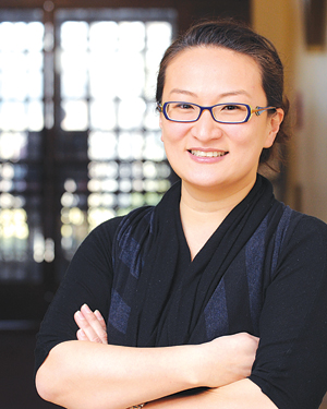 Grace Shen, Ph.D., researches the importance of science in the study of early modern Chinese history.  Photo by Chris Taggart