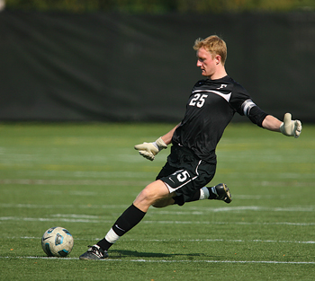 Ryan Meara was the Fordham soccer team's keeper before he turned pro this spring, joining the New York Red Bulls. Photo by Vincent Dusovic