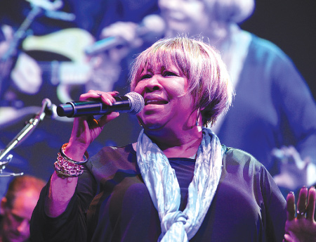 """Soul/gospel legend, Rock and Roll Hall of Famer, and civil rights icon, Mavis Staples, was awarded """"Artist of the Year"""" honors at WFUV's Annual Gala on May 8 at Gotham Hall in New York City.  Photo by Chris Taggart"""