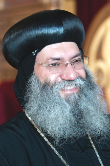 Bishop Suriel has researched the history of religious education in Egypt. Photo by Nashat Makarious VIDEO: Fordham Selfies  Watch a short video selfie by Bishop Anba Suriel here.