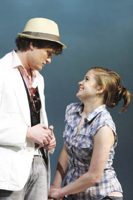 Adam Blodgett and Becca Ballenger in the 2009 production of Cusi Cram's The Wild Inside. Thanks to Fordham's collaborations with off-Broadway theaters, Ballenger and Blodgett were able to develop their characters with Cram.  Photo by Gerry Goodstein