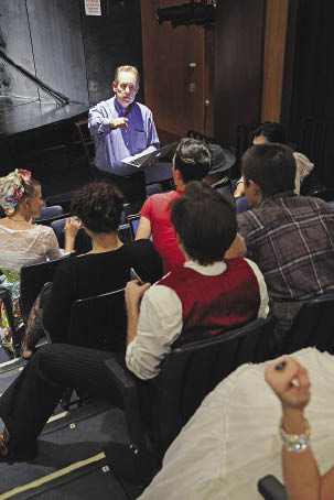 Under the direction of Matthew Maguire, the Fordham theatre program is actively building its reputation.  Photo by Gerry Goodstein