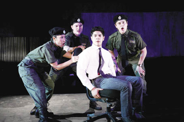 Matthew Maguire (not shown), director of Fordham Theatre, collaborated with the Public Theatre in 2008 to produce Twenty One Positions, a play about the Israeli-Palestinian conflict. Photo by Gerry Goodstein