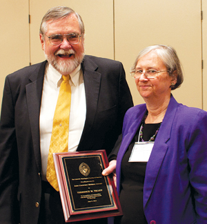 Terrence Tilley, Ph.D., pictured here with his wife Maureen Tilley, Ph.D., professor of theology, received the John Courtney Murray award on June 9.  Photo by JJ Mueller, S.J.