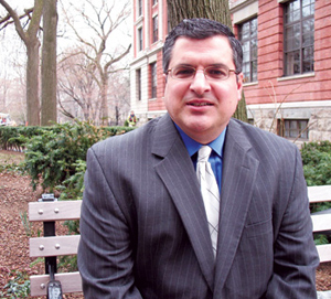 Stanley Veliotis, Ph.D. (LAW '89), is an assistant professor of accounting and taxation in the Gabelli School of Business.  Photo by Patrick Verel
