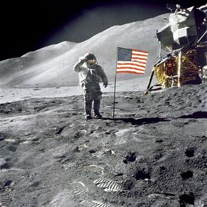 Astronaut David R. Scott during the Apollo 15 lunar surface extravehicular activity on Aug. 1, 1971. Photo courtesy NASA/James B. Irwin