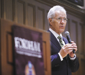 Alex Trebek mixes insight and wit in his appearance at Rose Hill. Photo by Chris Taggart