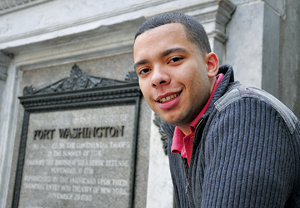 Wander Cedeño, GSAS '12, says his educational success is a result of mentors who were generous of spirit. Photo by Janet Sassi