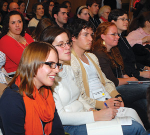 Millennials turn out on Jan. 29 for a conference on why young adults drift from the Catholic Church. Photo by Ken Levinson