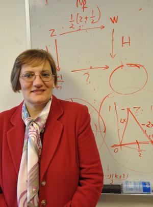 Melkana Brakalova, Ph.D., says that math educators should be masters of content as well as pedagogy. Photo by Gina Vergel