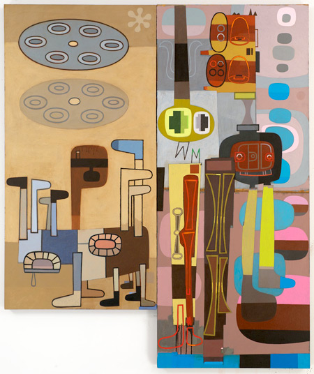 'Anchorite' and 'Future' (two paintings) by David Storey