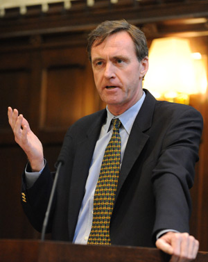Chris Lowney says professionals on Wall Street could have made better choices had they internalized the teachings of the Exercises. Photo by Chris Taggart