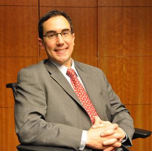 Patrick Marano says he valued the diversity of Fordham Law's evening program.  Photo by Patrick Verel