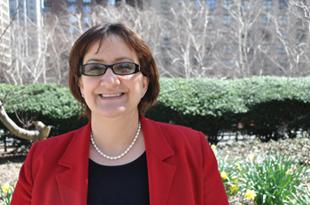 Claudia Moreno, Ph.D., is working on the first HIV prevention intervention for Latinas. Photo by Gina Vergel